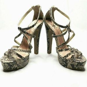 Kardashian Kollection Python Platform Heels Animal
